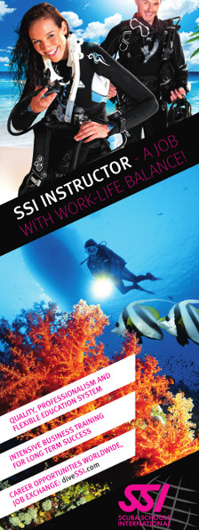 Change your life, start a diving career! Become an SSI dive instructor with our internships